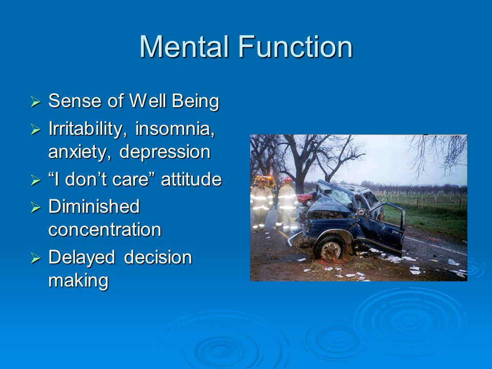 Mental Function Sense of Well Being