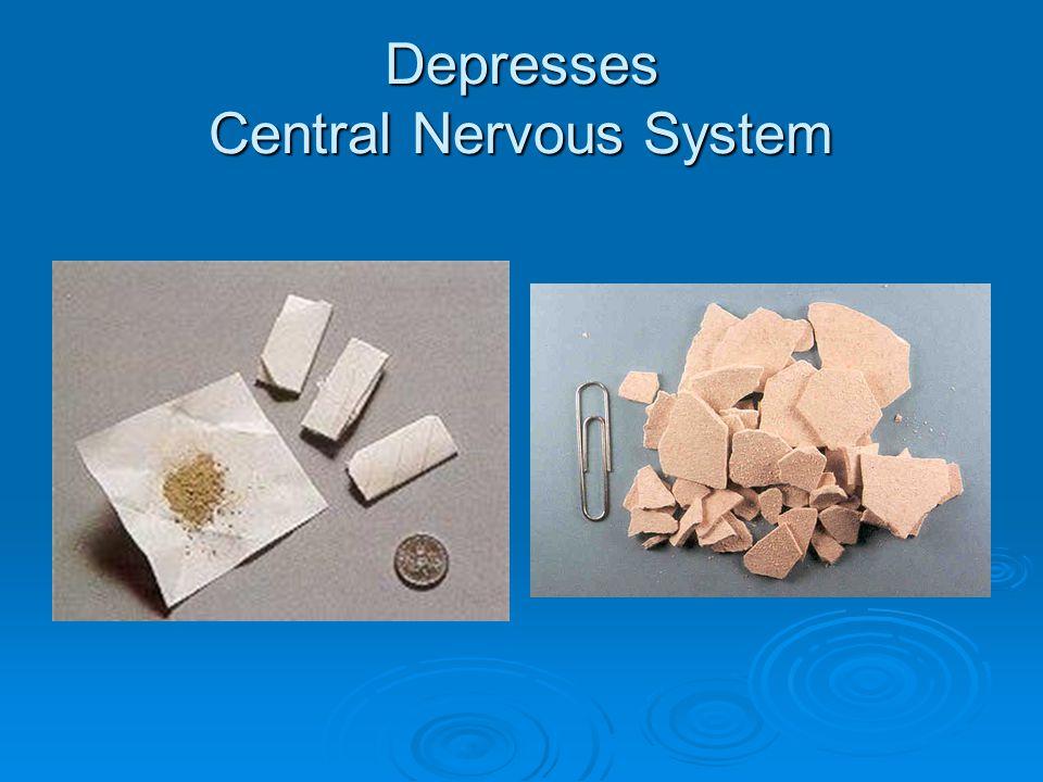 Depresses Central Nervous System