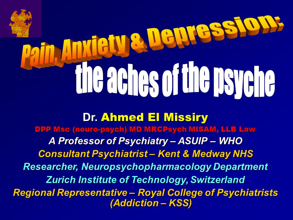 Pain, Anxiety & Depression: