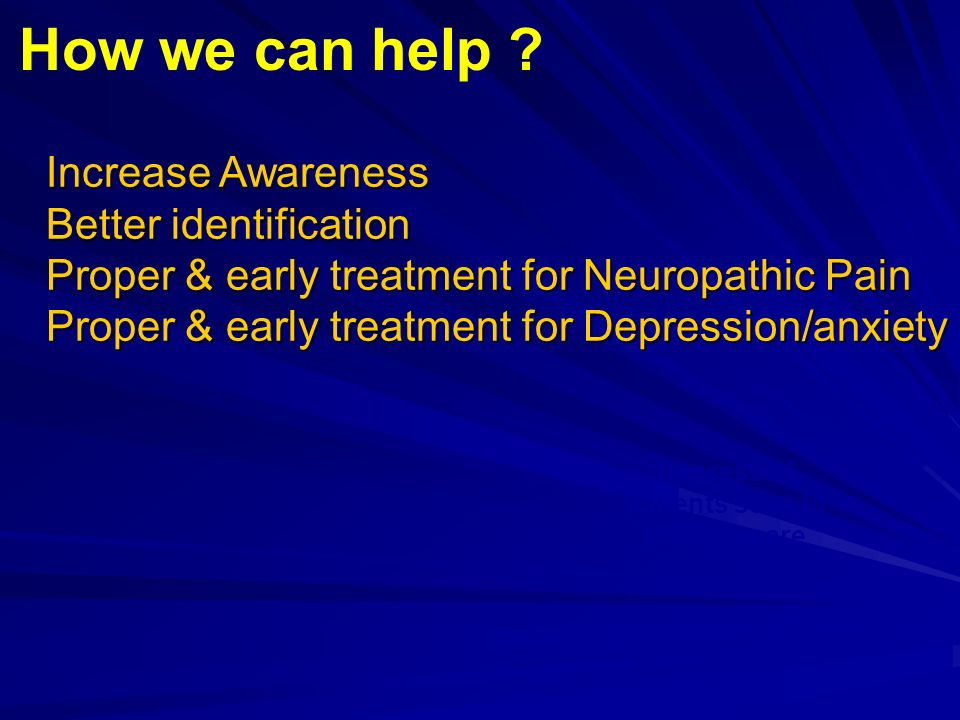Depressed patients seen in primary care