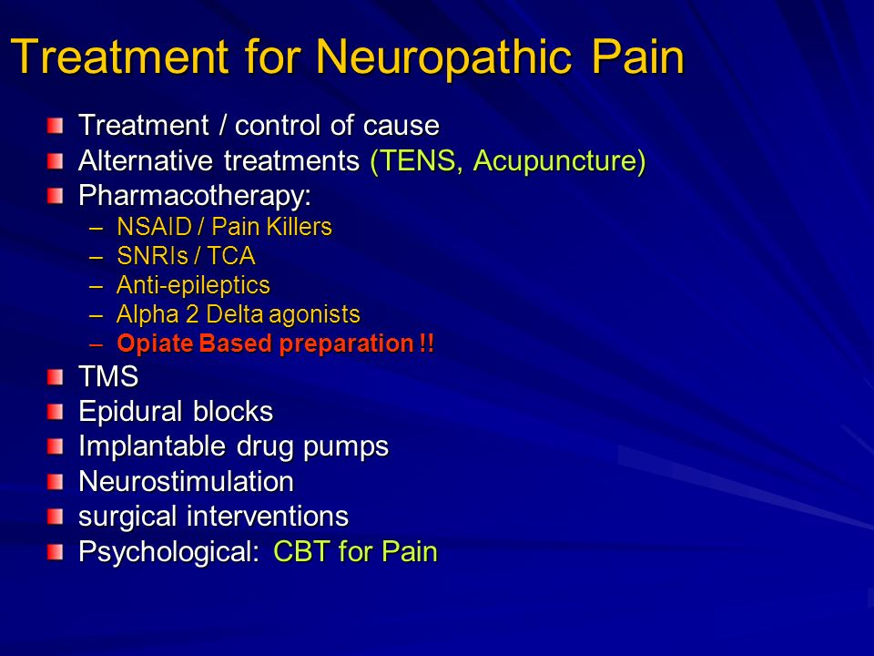 Treatment for Neuropathic Pain