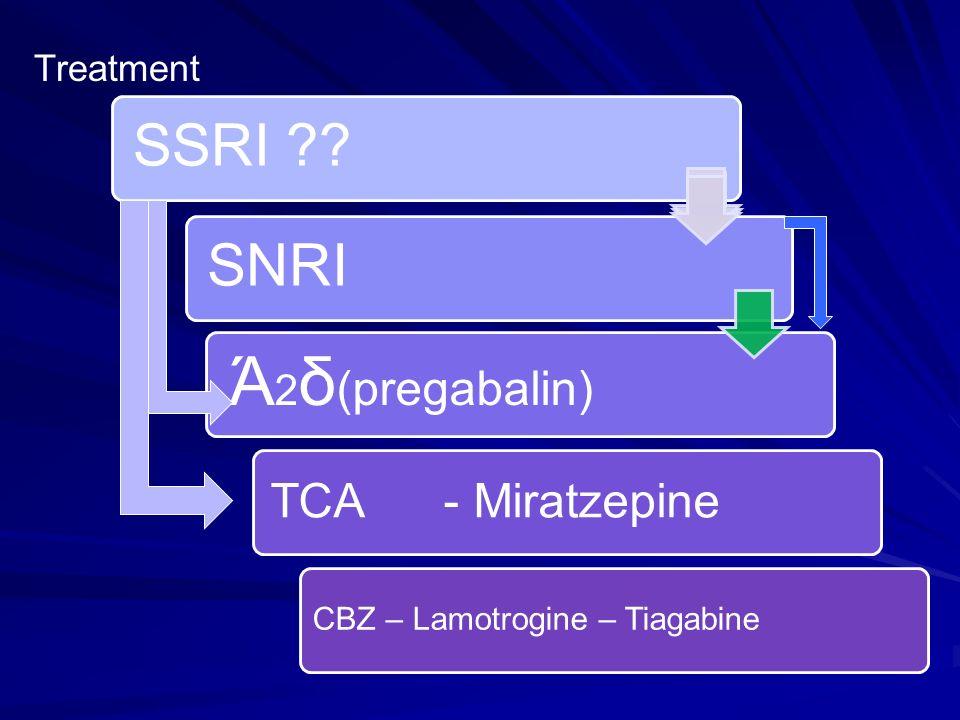 Ά2δ(pregabalin) TCA - Miratzepine Treatment