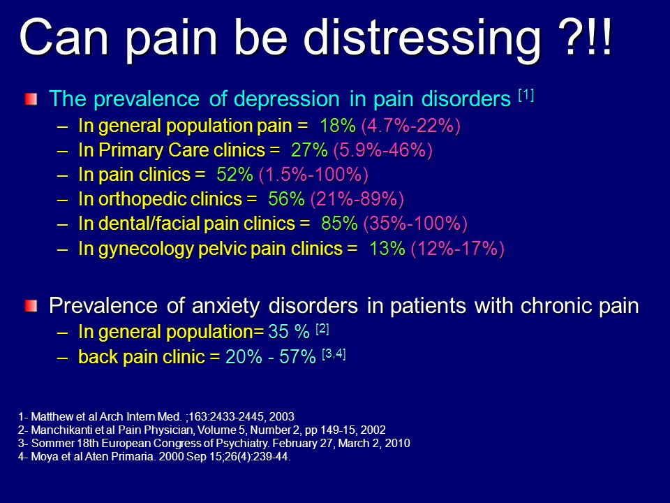 Can pain be distressing !!