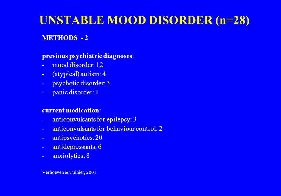 UNSTABLE MOOD DISORDER (n=28)
