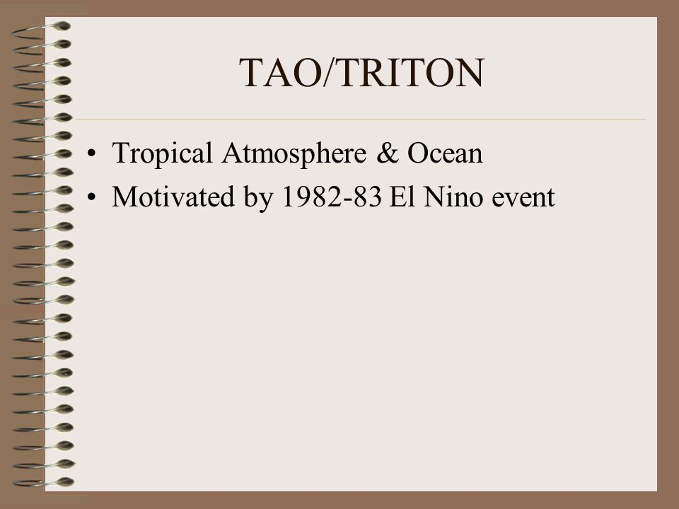 TAO/TRITON Tropical Atmosphere & Ocean