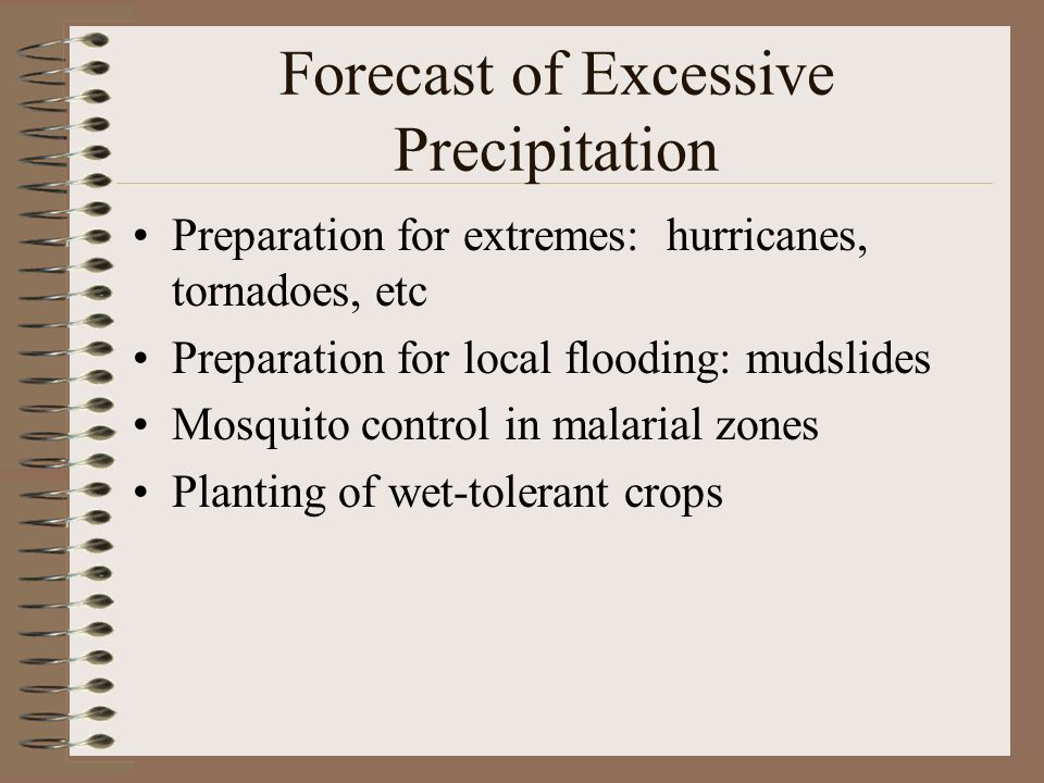 Forecast of Excessive Precipitation