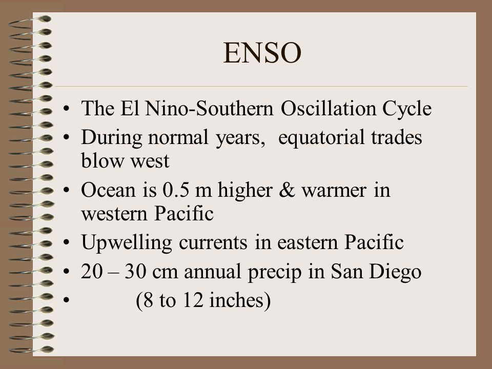 ENSO The El Nino-Southern Oscillation Cycle
