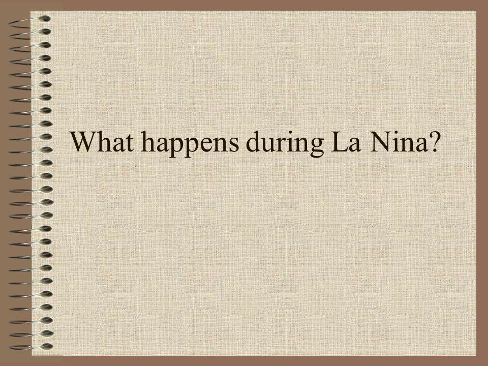 What happens during La Nina