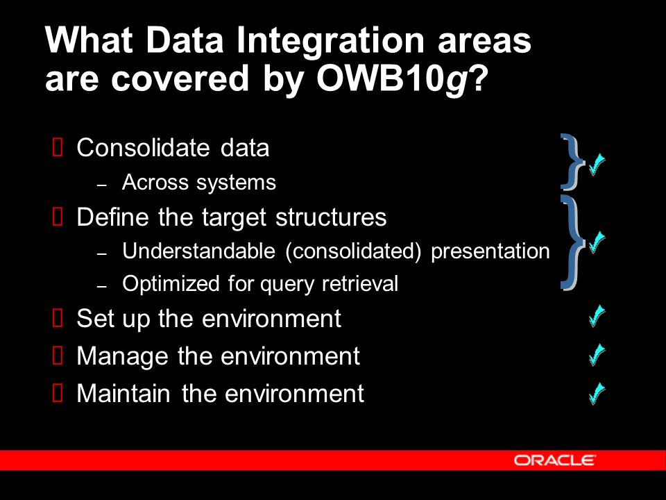 What Data Integration areas are covered by OWB10g