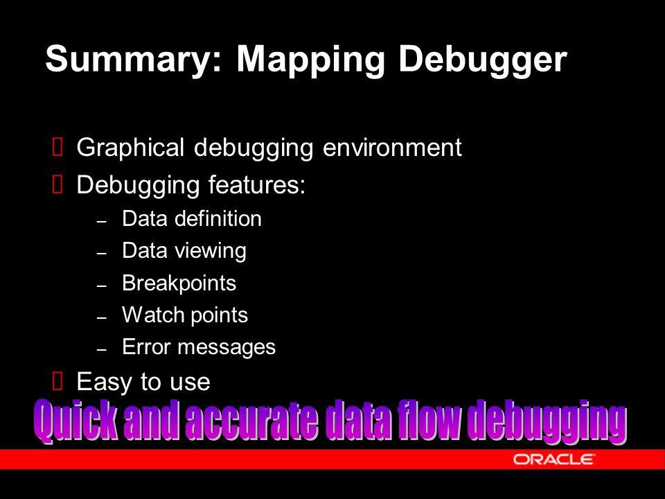 Summary: Mapping Debugger