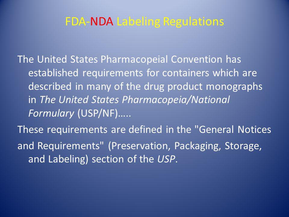 FDA-NDA Labeling Regulations