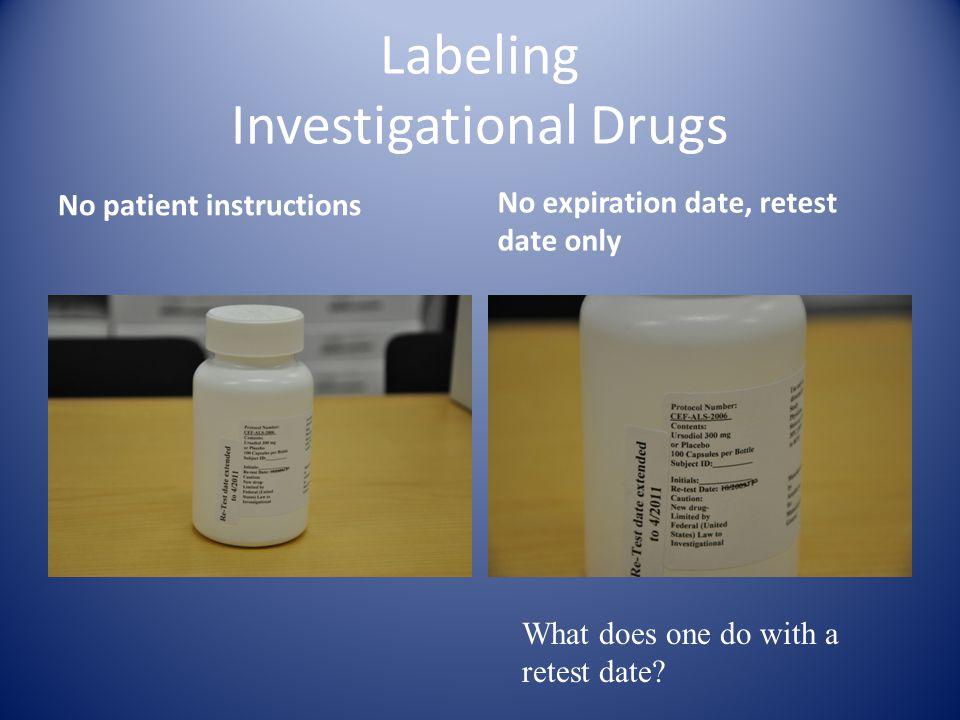 Labeling Investigational Drugs