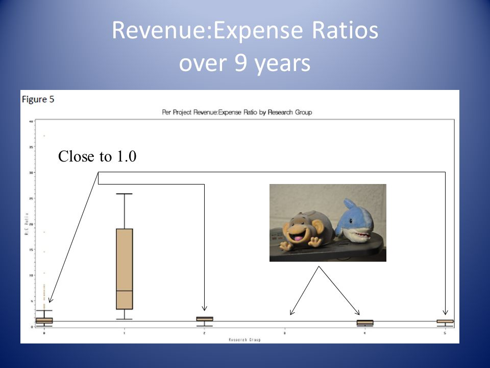 Revenue:Expense Ratios over 9 years
