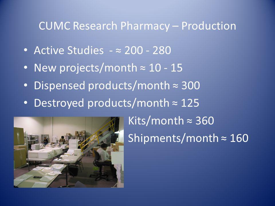 CUMC Research Pharmacy – Production
