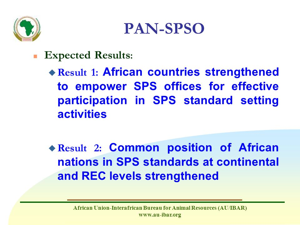 PAN-SPSO Expected Results: