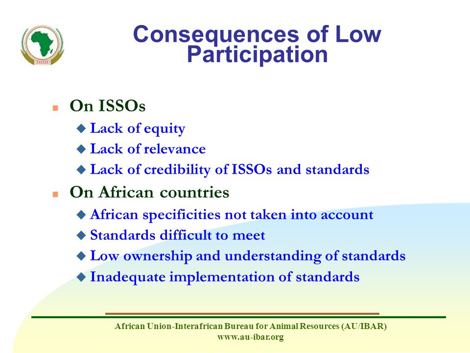 Consequences of Low Participation