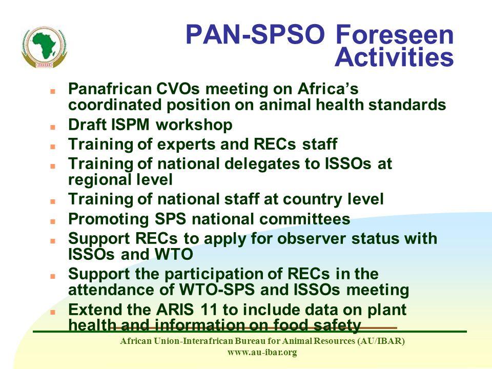 PAN-SPSO Foreseen Activities