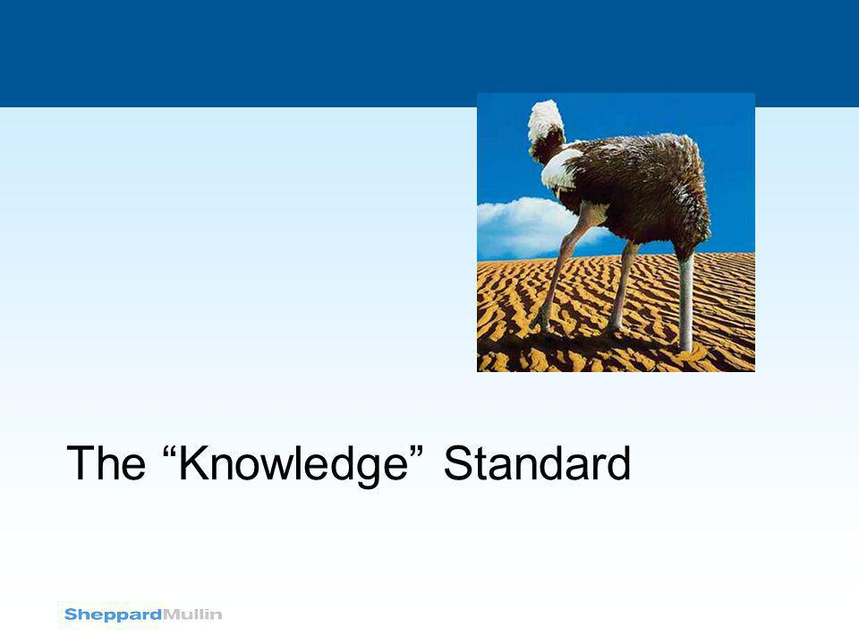 The Knowledge Standard