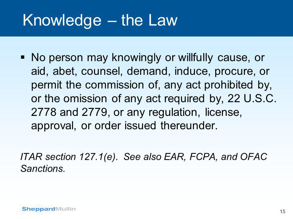 Knowledge – the Law