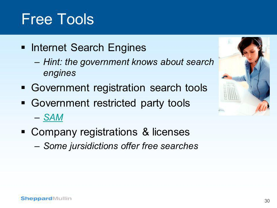 Free Tools Internet Search Engines