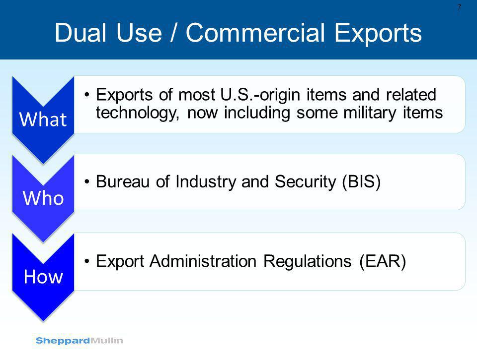 Dual Use / Commercial Exports