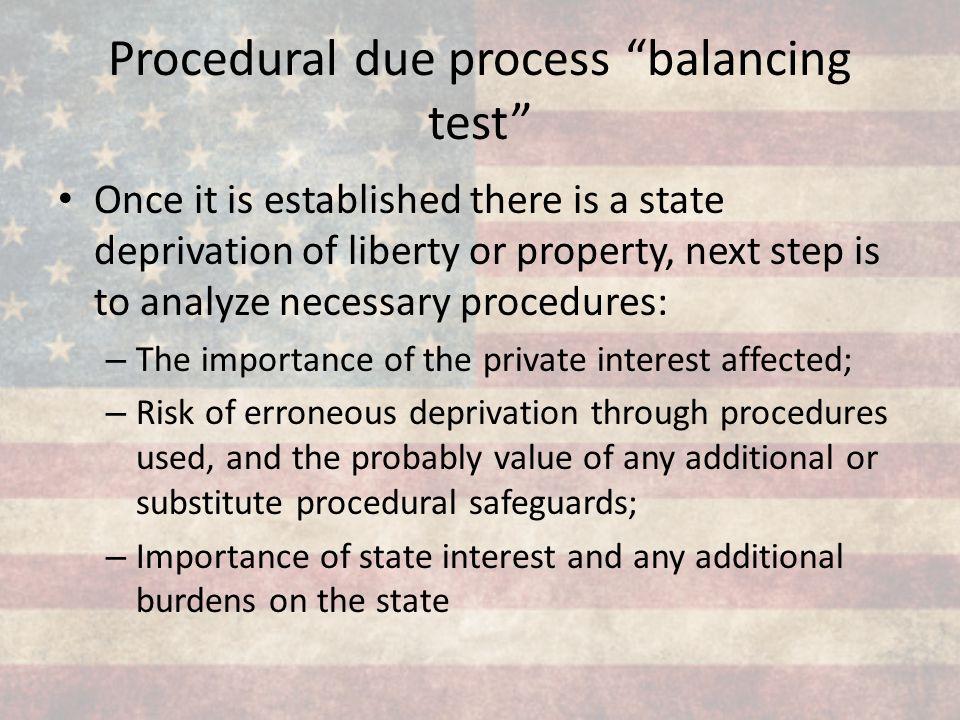 Procedural due process balancing test