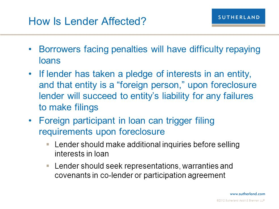How Is Lender Affected Borrowers facing penalties will have difficulty repaying loans.