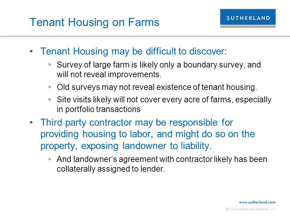Tenant Housing on Farms