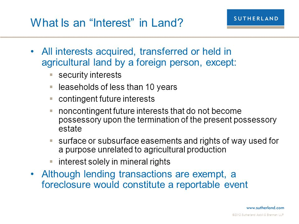 What Is an Interest in Land