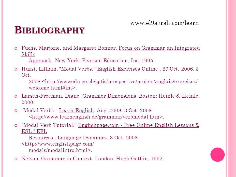 Bibliography www.el9a7rah.com/learn