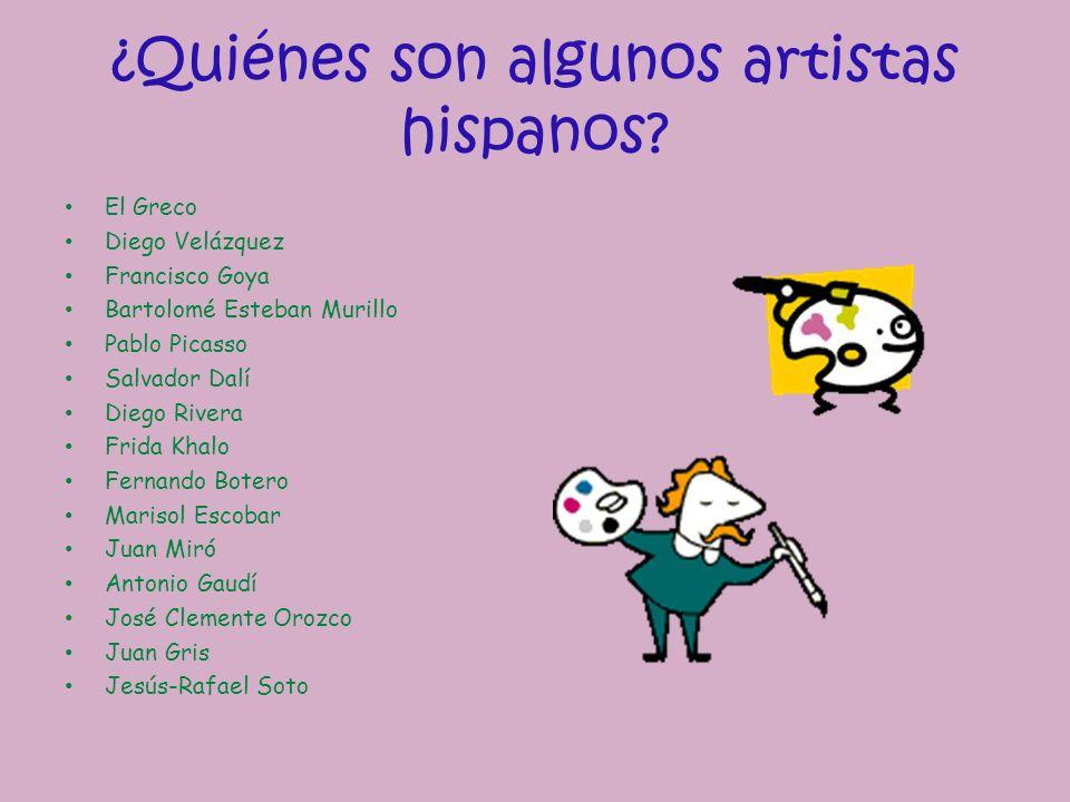 ¿Quiénes son algunos artistas hispanos