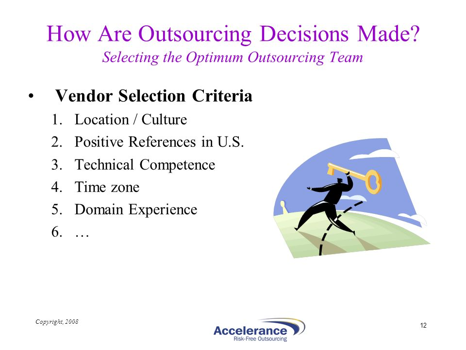How Are Outsourcing Decisions Made