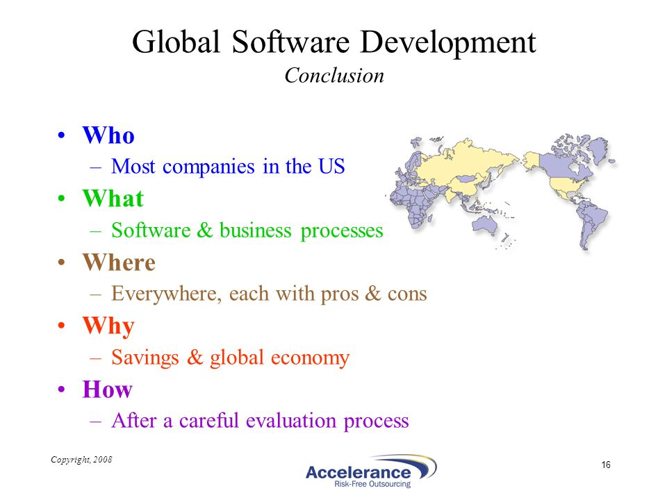 Global Software Development Conclusion