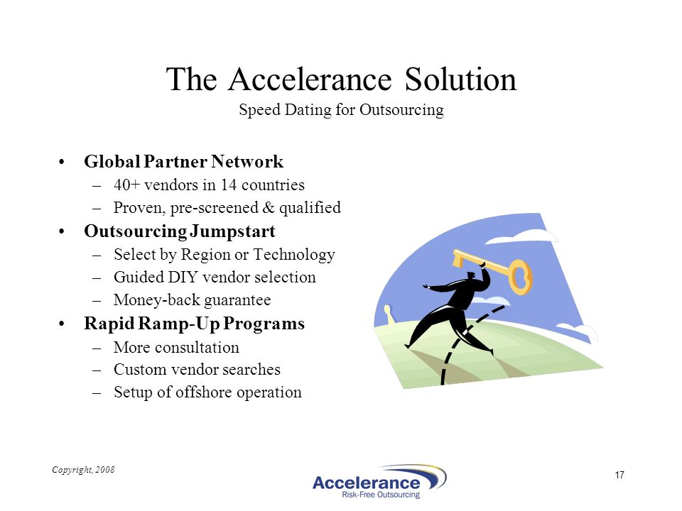 The Accelerance Solution Speed Dating for Outsourcing