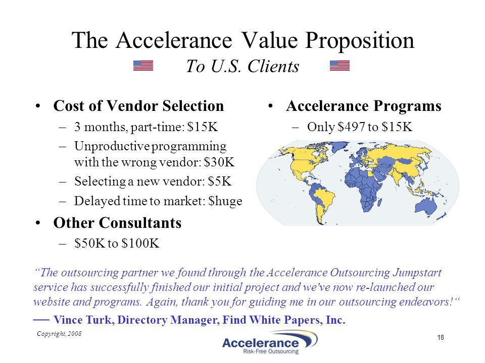 The Accelerance Value Proposition To U.S. Clients