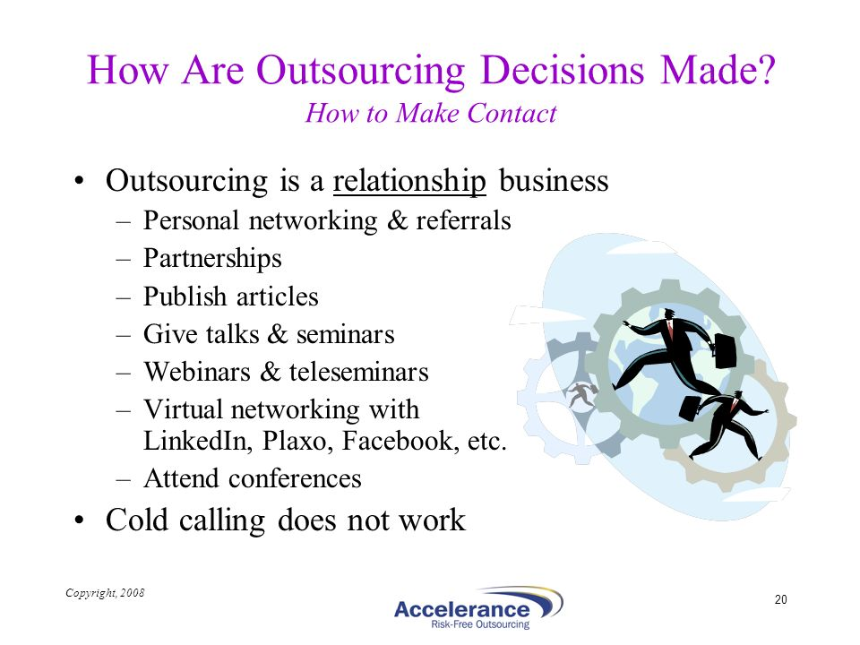 How Are Outsourcing Decisions Made How to Make Contact