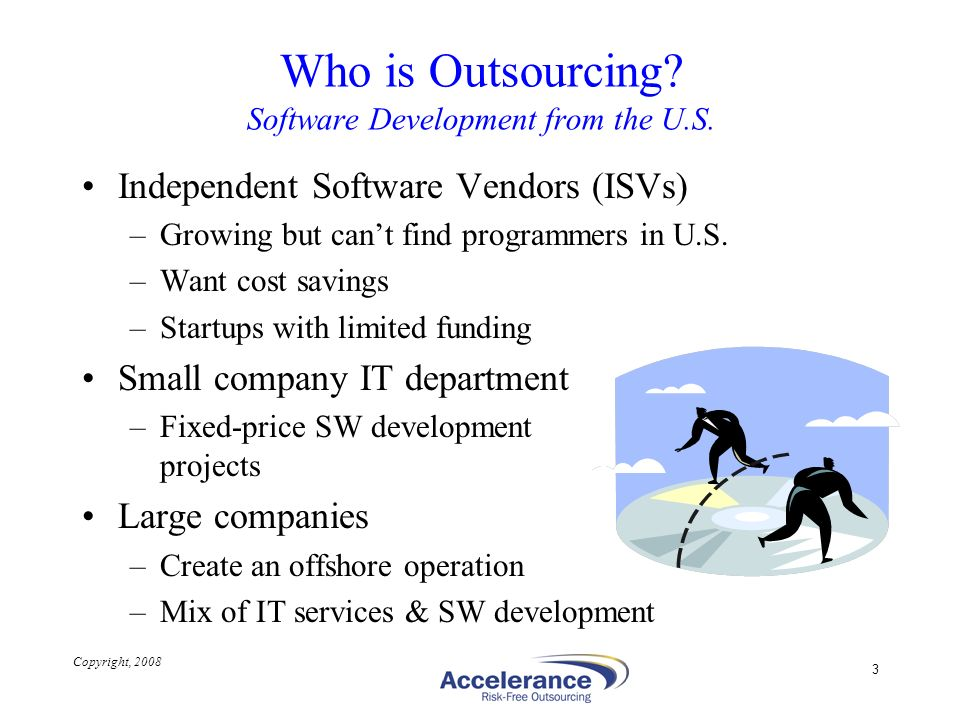 Who is Outsourcing Software Development from the U.S.