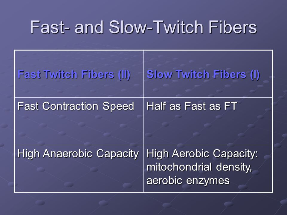 Fast- and Slow-Twitch Fibers
