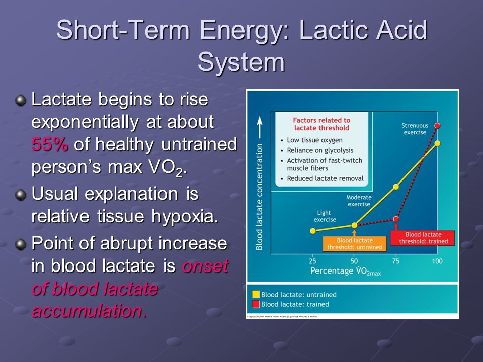 Short-Term Energy: Lactic Acid System