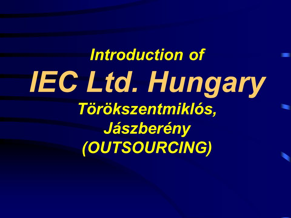 Introduction of IEC Ltd