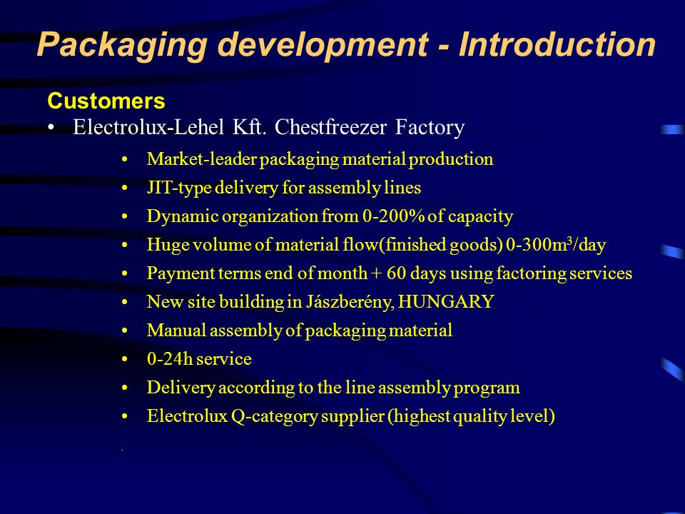 Packaging development - Introduction
