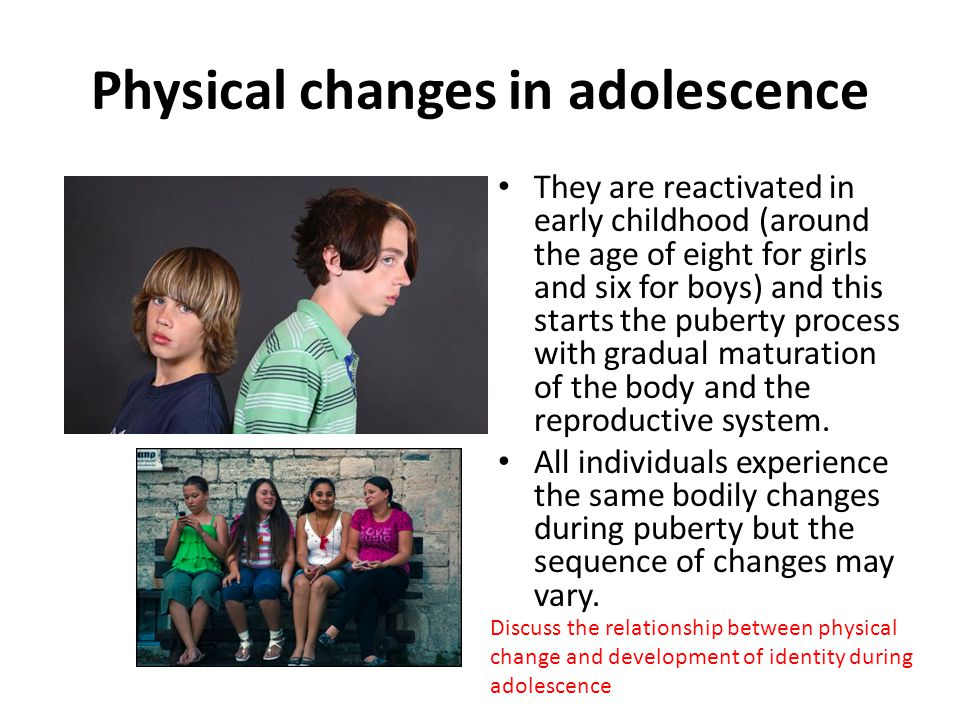Physical changes in adolescence