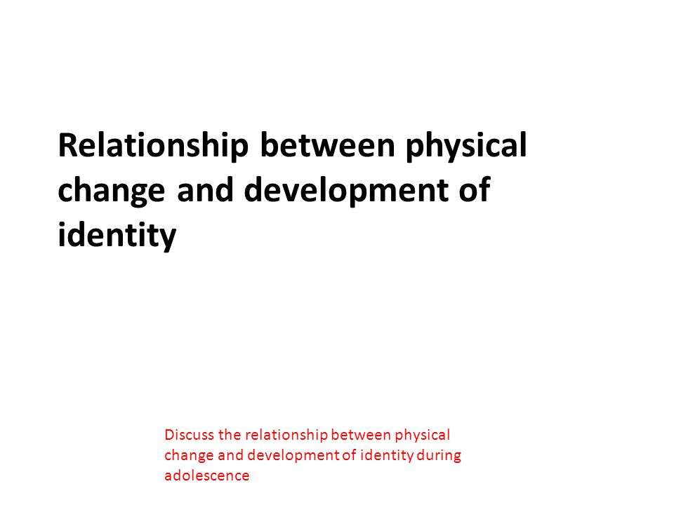 Relationship between physical change and development of identity