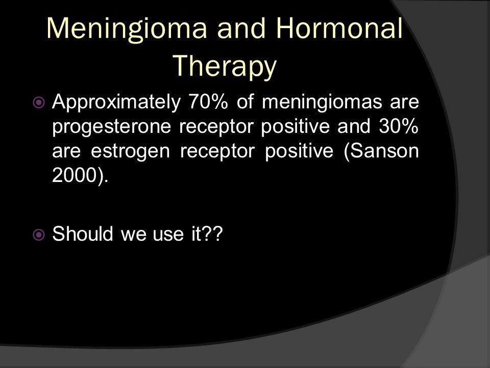 Meningioma and Hormonal Therapy