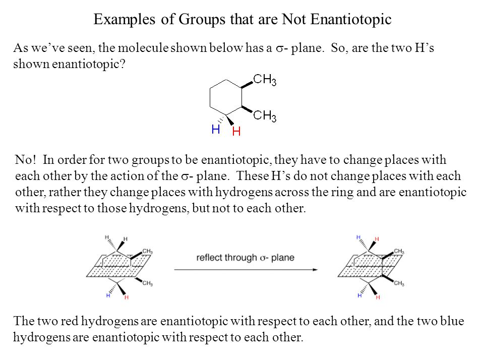 Examples of Groups that are Not Enantiotopic