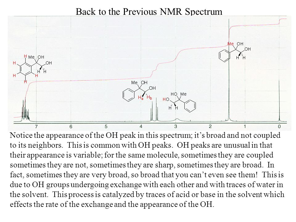 Back to the Previous NMR Spectrum