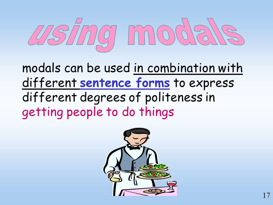 using modals