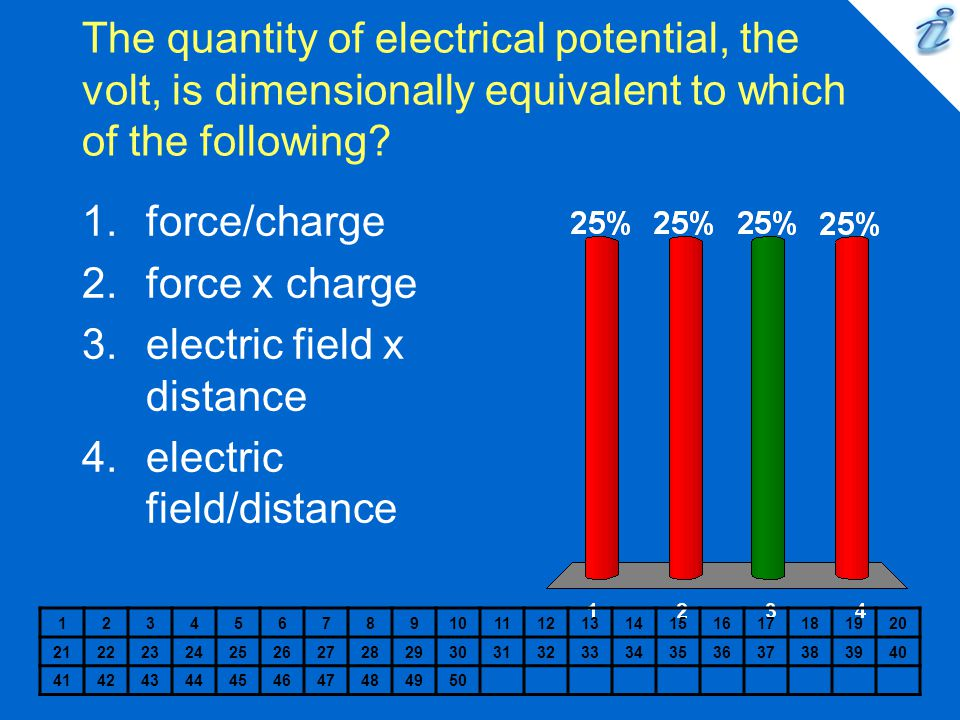 electric field x distance electric field/distance