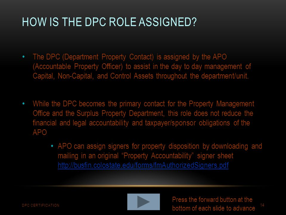 How is the dpc role assigned