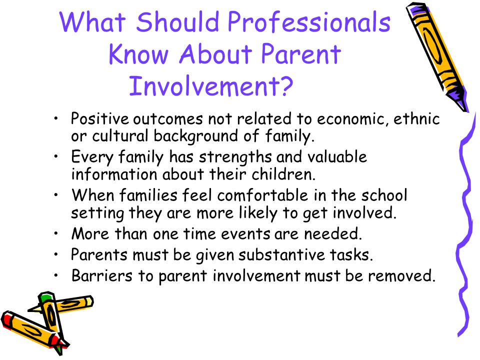 What Should Professionals Know About Parent Involvement